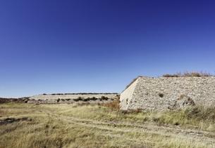 stone wall, old Mongol capital, Yuan Shangdu or Xanaduの写真素材 [FYI01506168]