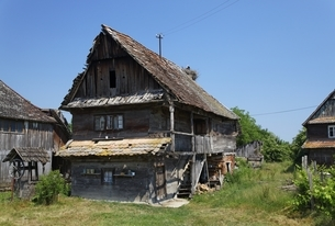traditional wooden houseの写真素材 [FYI01506247]