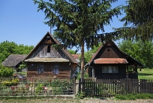 traditional wooden housesの写真素材 [FYI01506342]