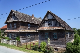 traditional wooden housesの写真素材 [FYI01506440]