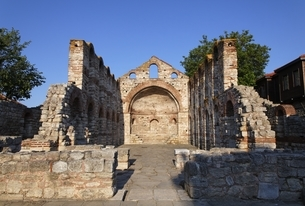 St. Sofia Church, Nessebar, Bulgariaの写真素材 [FYI01506541]