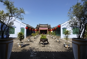 Chinese Al-Community Assembly Hall, Hoi An, Vietnamの写真素材 [FYI01506745]