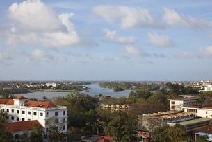 hotel terrace, Hue, Vietnamの写真素材 [FYI01506754]