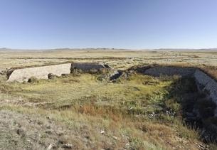 stone wall, old Mongol capital, Yuan Shangdu or Xanaduの写真素材 [FYI01506836]