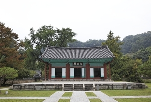 Jeonju Hyanggyo, Confucian shrine & school, Hanok Villageの写真素材 [FYI01506922]