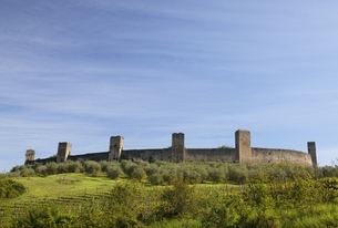 Monteriggioni, castle, fortified village, town walls, Tuscanyの写真素材 [FYI01506988]