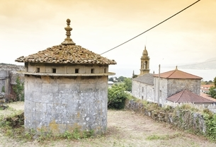 pidgeon house, Lira, Galicia, Spainの写真素材 [FYI01507133]