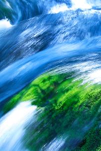 清流と苔の生えた岩の写真素材 [FYI01507947]