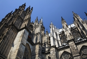 Cologne Cathedral, Gothic spires, Cologneの写真素材 [FYI01508072]