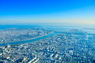 荒川河口と東京湾の写真素材 [FYI01508586]