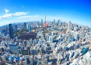 東京タワーとビル群の写真素材 [FYI01508721]