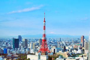 東京タワーと富士山の写真素材 [FYI01509085]