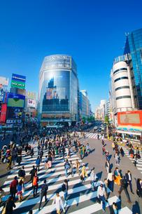 渋谷駅前スクランブル交差点を行き交う通行人の写真素材 [FYI01514808]