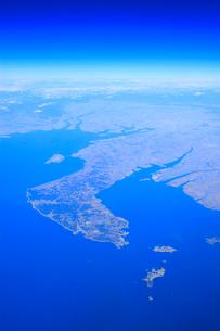 知多半島と名古屋市遠望の写真素材 [FYI01516605]