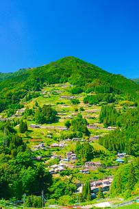 落合集落展望所から望む落合集落の写真素材 [FYI01516937]