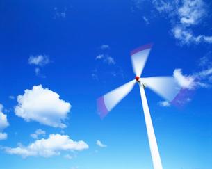 風力発電の風車の写真素材 [FYI01518183]