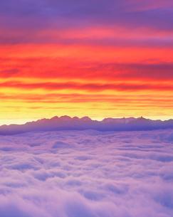 雲海と槍・穂高連峰の写真素材 [FYI01518212]