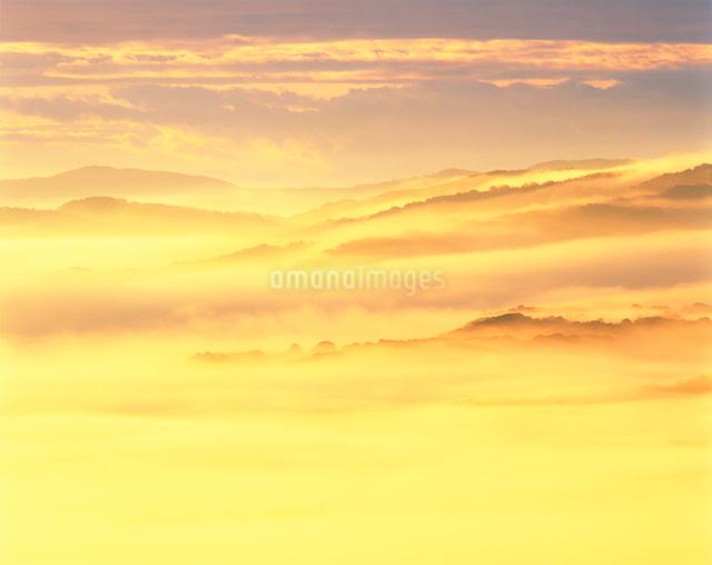 雲海と山並の写真素材 [FYI01519098]