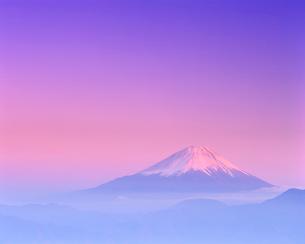 富士山夕景の写真素材 [FYI01519492]