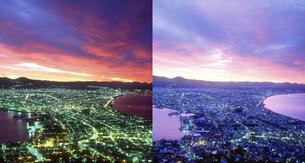 函館市街(黎明から朝へ)の写真素材 [FYI01520075]