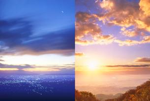越後平野の朝の写真素材 [FYI01520298]