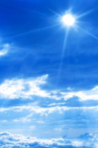 雲と雲海と太陽の写真素材 [FYI01521048]