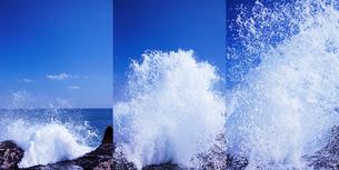 波しぶきの上がる様子の写真素材 [FYI01521073]