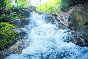 ニの滝の脇の滝の飛沫の写真素材 [FYI01521600]