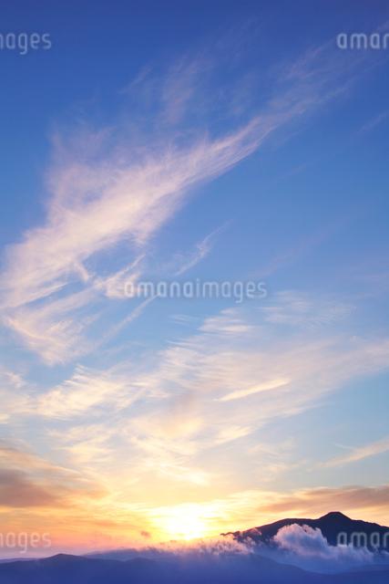 朝日と蓼科山と雲海の写真素材 [FYI01521897]