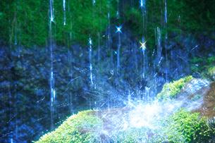 滝状の岩清水の写真素材 [FYI01528195]