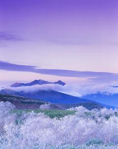 雨氷現象と穂高連峰の夕景の写真素材 [FYI01529098]