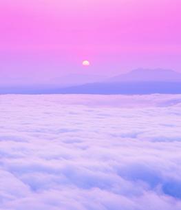 雲海と朝日と斜里岳の写真素材 [FYI01529413]