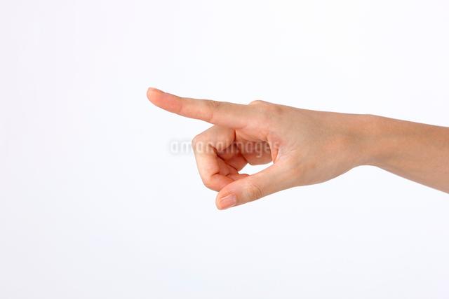 指差しする指の写真素材 [FYI01530315]
