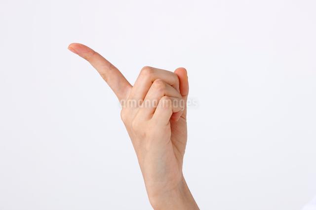 指差しする指の写真素材 [FYI01530950]