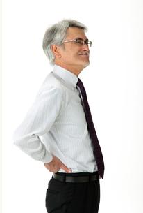 腰痛の中年男性の写真素材 [FYI01531352]