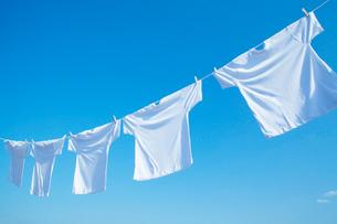 青空と洗濯物の写真素材 [FYI01537207]