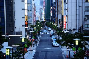 銀座花椿通り夕景の写真素材 [FYI01540551]