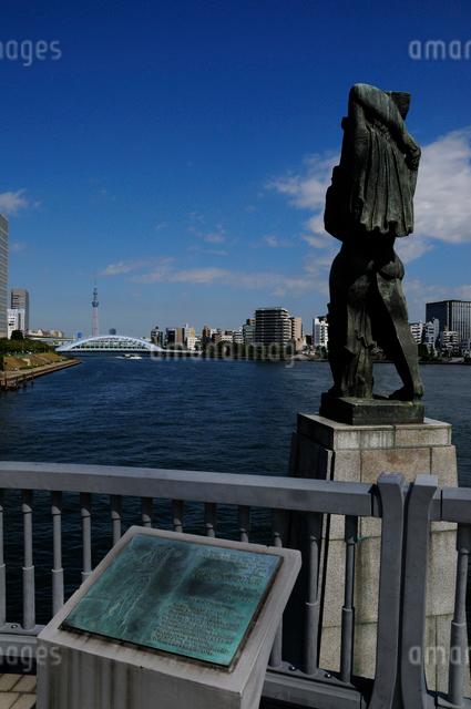 中央大橋から見る永代橋の写真素材 [FYI01540580]