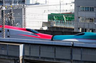 東北新幹線,スーパーこまちとつばさの写真素材 [FYI01541735]