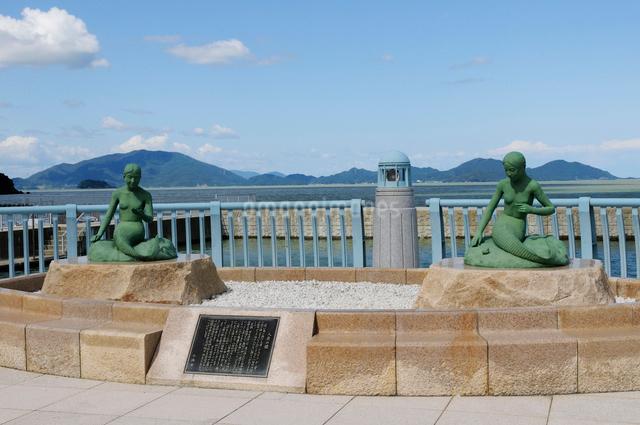人形の浜海水浴場の風景の写真素材 [FYI01544699]