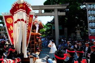 岸和田だんじり祭り宮入りの写真素材 [FYI01545333]