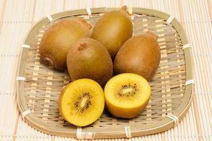 果物・ゴールドキウイの写真素材 [FYI01545943]