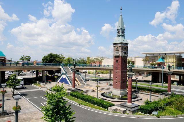 JR倉敷駅からの街並み風景の写真素材 [FYI01546217]