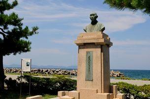 皆生温泉街にある有本松太郎の銅像の写真素材 [FYI01546234]