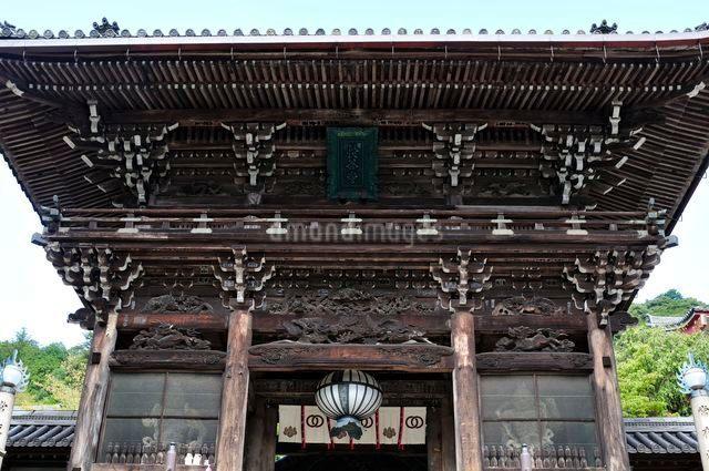 奈良 秋の総本山長谷寺仁王門の写真素材 [FYI01547242]