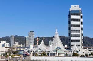 中突堤旅客ターミナルからの街並みの写真素材 [FYI01547260]