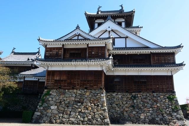 福知山城,大天守と小天守の写真素材 [FYI01547539]