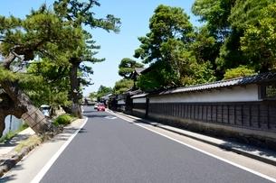 松江城 武家屋敷からの街並みの写真素材 [FYI01547602]