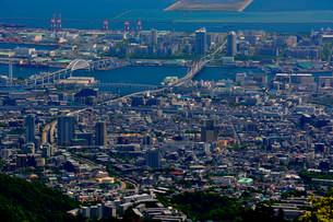 神戸 六甲展望台から阪神大阪方面の写真素材 [FYI01548042]