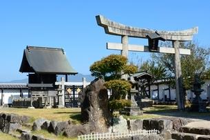 福知山城,朝暉神社の写真素材 [FYI01548044]